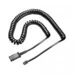 Cablu telefon fix Poly 38099-01, Black