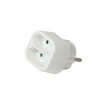 Adaptor priza Logilink LPS218, 2x Euro, White