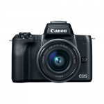 Aparat foto Mirrorless Canon EOS M50, 24.1MP, Black + Obiectiv EF-M 15-45 IS STM
