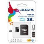 Memory Card microSDHC A-data Premier 32GB, Class 10, UHS-I U1 + Adaptor SD