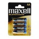 Baterii Maxell Alkaline LR6 blistier, 4x AA, Blister