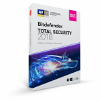 Bitdefender Total Security 2018, 3 user/1 an, Base Retail