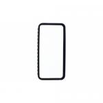 Bumper TnB IPH5BUMPBK pentru iPhone 5, Black + Folie de protectie