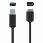 Cablu Belkin Pro, USB 3.0 - Micro USB 3.0 Tip B, 1.8m, Black