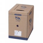 Cablu BrandRex GigaPlus U/UTP Cat. 5e, 4 Pair LSF/OH IEC 332.1 Sheathed, 24 AWG, Grey, 1m
