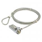 Cablu securitate LogiLink NBS003 cu cifru pentru laptop, Silver