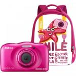 Camera foto Nikon COOLPIX Watterproof W100 Backpack kit, 13.2Mp, Pink