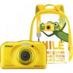 Camera foto Nikon COOLPIX Watterproof W100, Backpack kit, 13.2Mp, Yellow