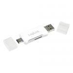 Card reader Logilink 3-in-1, USB 2.0, USB-C - Micro-B, USB-A
