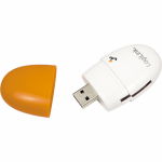 Card Reader LogiLink CR0029, USB 2.0, White-Orange
