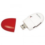Card Reader LogiLink CR0032, USB 2.0, Red