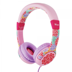 Casti cu microfon Trust Spila Kids, Pink