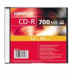 CD-R Omega 52x, 700MB, 1buc, Slim case
