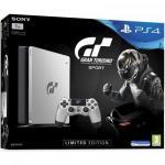 Consola Sony Playstation 4 Slim 1TB, Jet Black Limited Edition + Joc Gran Turismo Sport