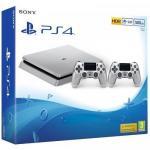Consola Sony Playstation 4 Slim 500 GB Limited Edition, Silver + 2x Controller DualShock 4 V2 Silver