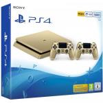 Consola Sony Playstation 4 Slim 500GB Limited Edition, Gold + 2x Controller DualShock 4 V2 Gold