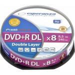 DVD+R Double Layer Esperanza 8x, 8.5GB, cake box 10buc