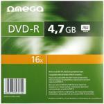 DVD-R Omega 16x, 4.7GB, 10buc, Slim case