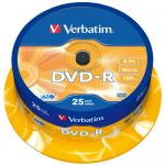 DVD-R Verbatim 16x, 4.7GB, 25 buc, Spindle
