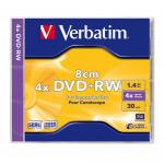 DVD+RW Verbatim Mini, 1.4GB, 4x, 1buc, Jewel case