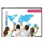 Tabla Interactiva IQboard Foundation, Diagonala 100inch, Software Limba Romana, 10 puncte Multi-touch, Multi-user