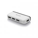 Hub USB Belkin Travel, 4x USB 2.0, Black-White