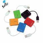 Hub USB LogiLink Smile UA0140, 4x USB 2.0, Red