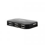 Hub USB Natec Locust, 4x USB 2.0, Black