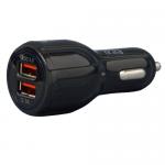 Incarcator auto Spacer, 2x USB, 3.1A, Black