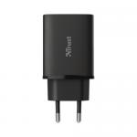 Incarcator retea Trust Qmax, 1x USB, Black