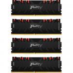 Kit Memorie Kingston Renegade RGB 64GB, DDR4-3200Mhz, CL16, Quad Channel