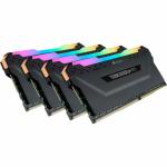 Kit memorie Corsair Vengeance RGB PRO 64GB, DDR4-3200MHz, CL16, Quad Channel