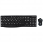 Kit Wireless Logitech MK270 - Tastatura, USB, Layout Franta, Black + Mouse Optic, USB, Black
