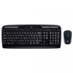 Kit Wireless Logitech MK3300 - Tastatura, USB, Layout US, Black + Mouse Optic M215, USB, Black