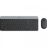 Kit Wireless Logitech MK470 - Tastatura, USB, Layout Germana, Graphite + Mouse Optic, USB, Graphite