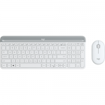 Kit Wireless Logitech MK470 - Tastatura, USB, Layout Germana, White + Mouse Optic, USB, White