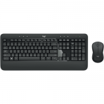 Kit Wireless Logitech - Tastatura MK540, USB, Layout Germana, Black + Mouse Optic M310, USB, Black