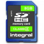 Memory Card Integral SDHC, 8GB, Clasa 4