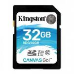 Memory Card Kingston Canvas Go SDHC 32GB, Clasa 10