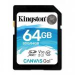 Memory Card Kingston Canvas Go SDXC 64GB, Clasa 10