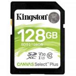 Memory Card Kingston Canvas Select Plus SDXC 128GB, Clasa 10
