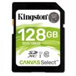 Memory Card Kingston Canvas Select SDXC 128GB, Clasa 10
