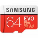 Memory card Samsung Evo Plus microSDXC 64GB, CL10 UHS1 + Adaptor SD