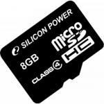 Memory Card Silicon Power Micro SDHC 8GB, Clasa 4