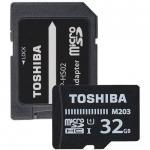 Memory Card Toshiba M203 MicroSDHC, 32GB, Class 10 + Adaptor SD