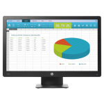 Monitor LED HP ProDisplay P203, 20inch, 1600x900, 5ms, Black