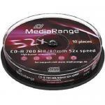CD-R MediaRange MR214 52x, 700MB, 10buc