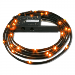 NZXT Sleeved LED Lighting Kit, 1m, Orange