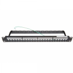 Patch Panel AMP 2153437-1, 19inch, 24x porturi, Black