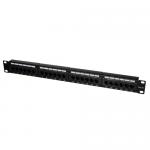 Patch Panel Logilink NP0027, 19inch, 24x porturi, Black